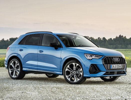 Blue Audi gets repaired ant Eddies Imports